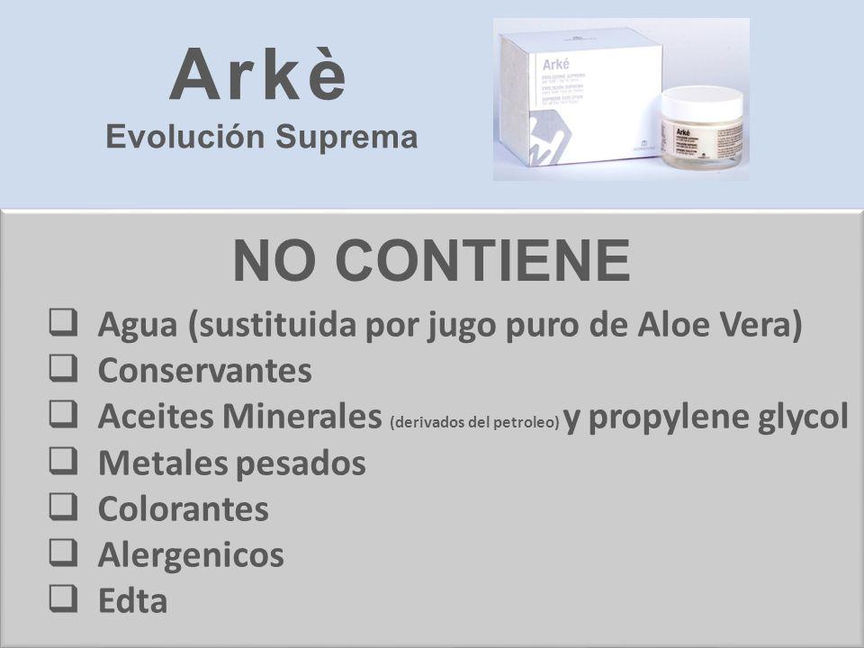 Arkè NO CONTIENE Agua (sustituida por jugo puro de Aloe Vera)