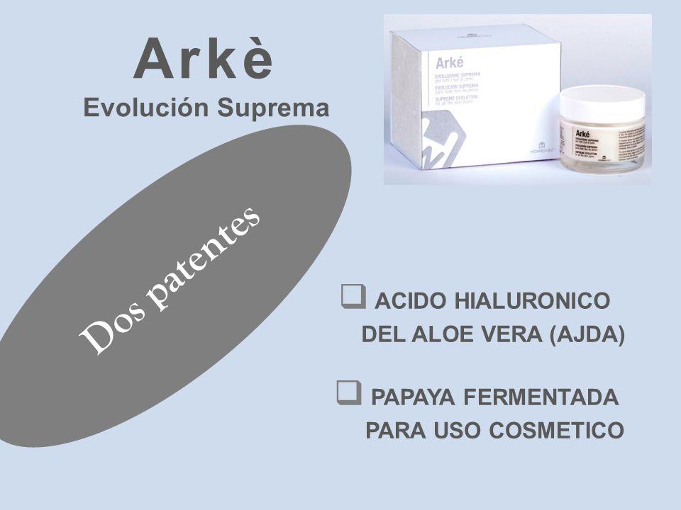Arkè Dos patentes Evolución Suprema ACIDO HIALURONICO