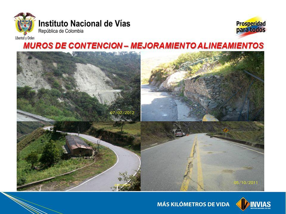 MUROS DE CONTENCION – MEJORAMIENTO ALINEAMIENTOS