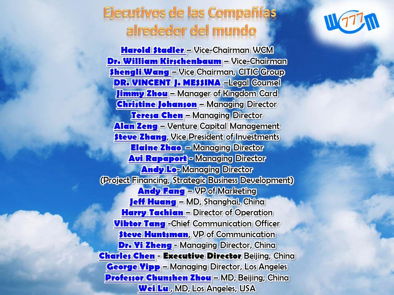 Ejecutivos de las Compañías
