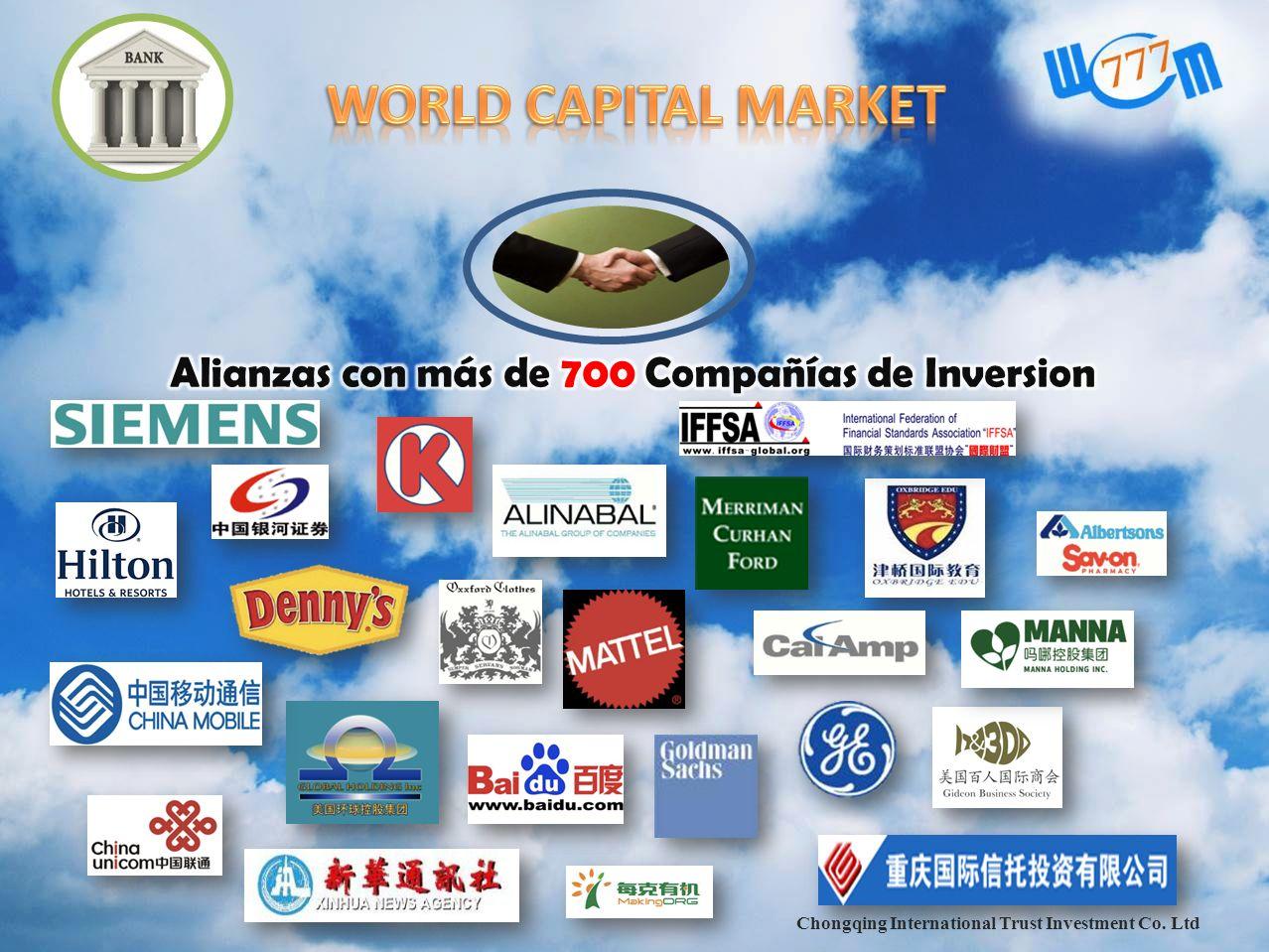 WORLD CAPITAL MARKET Alianzas con más de 700 Compañías de Inversion