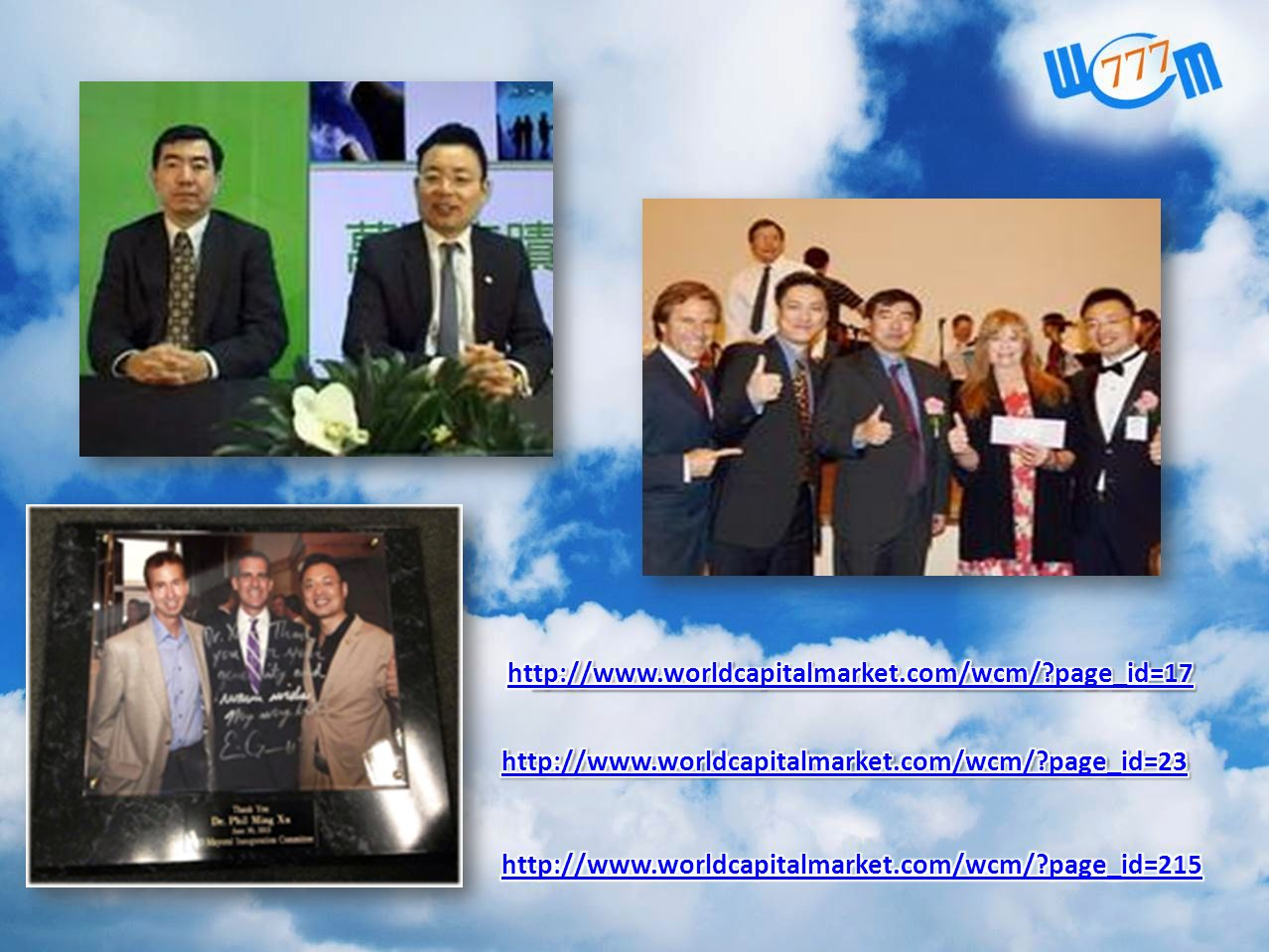 http://www.worldcapitalmarket.com/wcm/ page_id=17 http://www.worldcapitalmarket.com/wcm/ page_id=23.