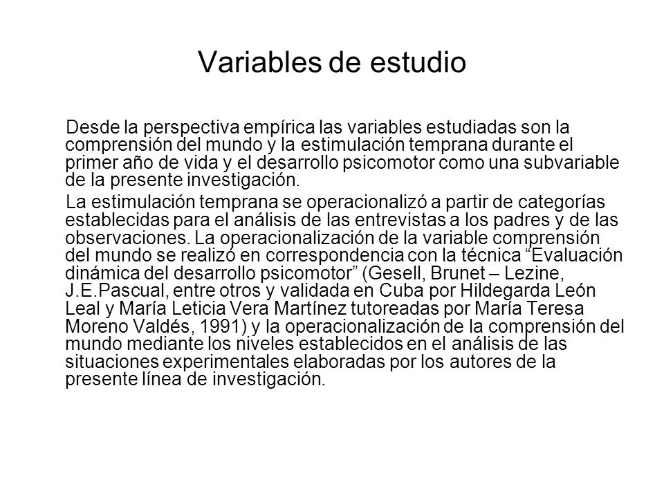 Variables de estudio
