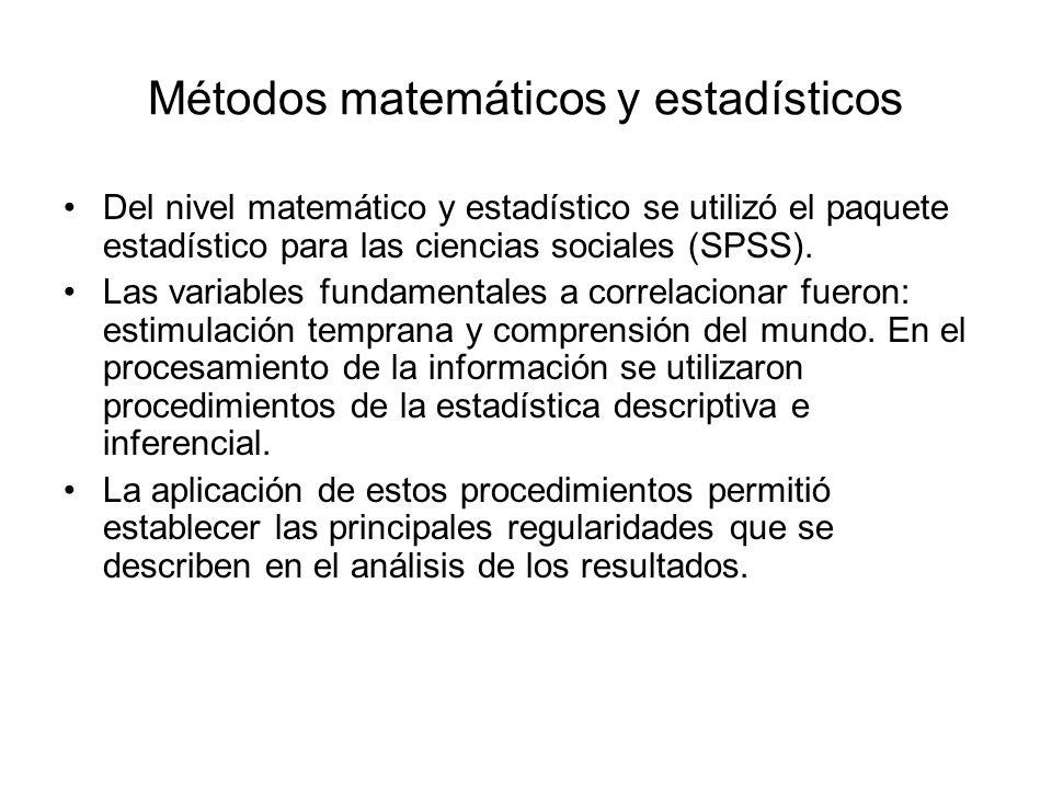 Métodos matemáticos y estadísticos