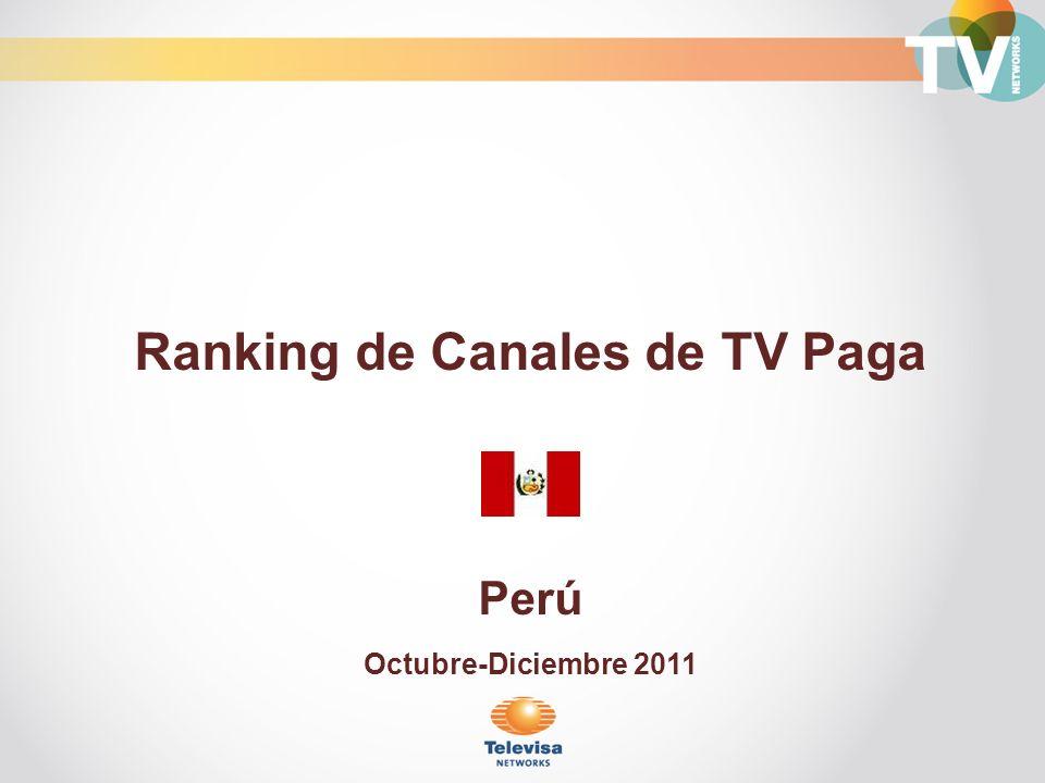 Ranking de Canales de TV Paga