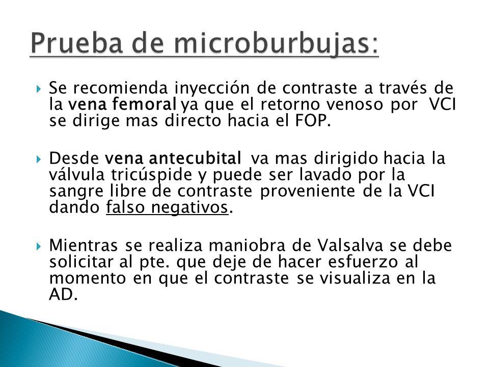 Prueba de microburbujas: