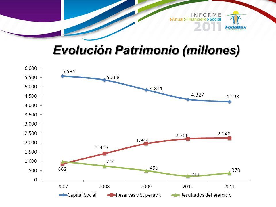 Evolución Patrimonio (millones)