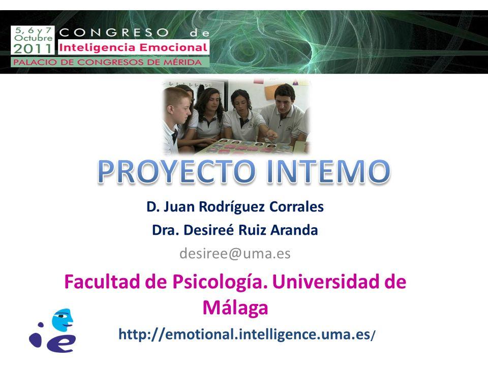 PROYECTO INTEMO Facultad de Psicología. Universidad de Málaga
