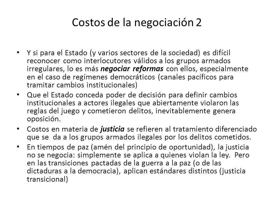Costos de la negociación 2
