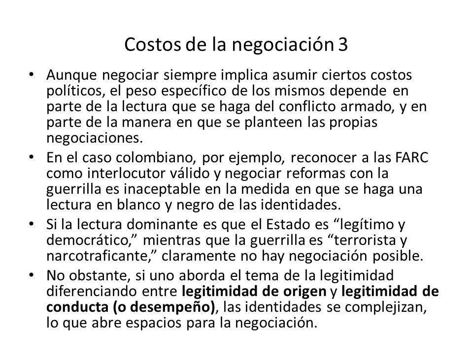 Costos de la negociación 3