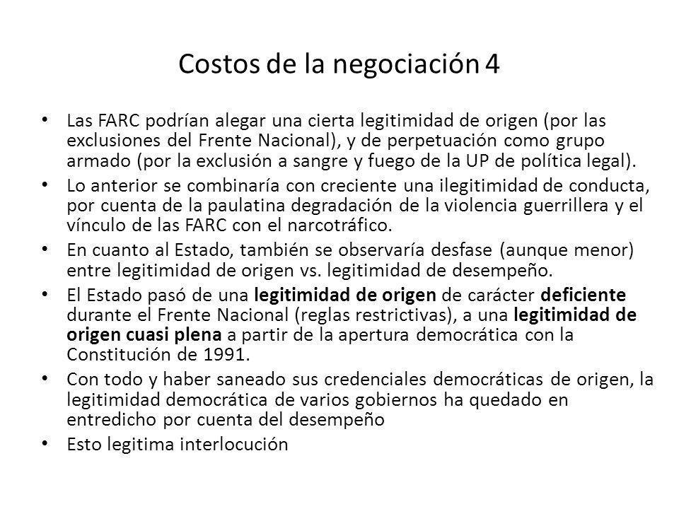 Costos de la negociación 4