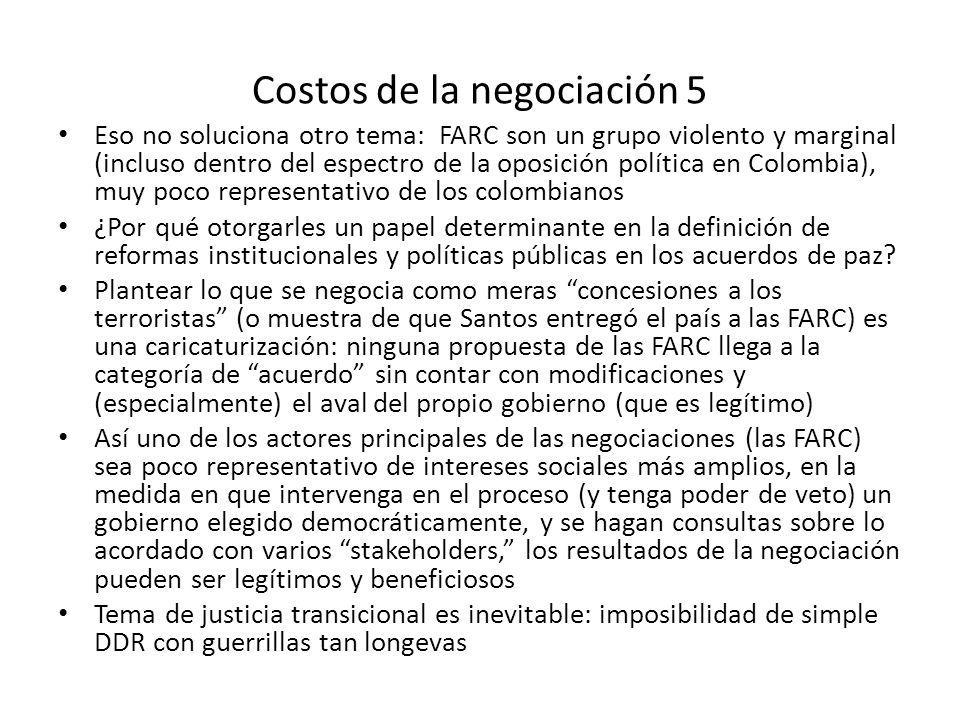 Costos de la negociación 5