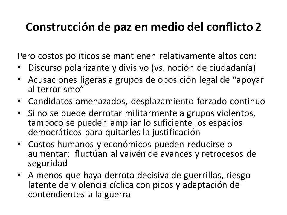 Construcción de paz en medio del conflicto 2