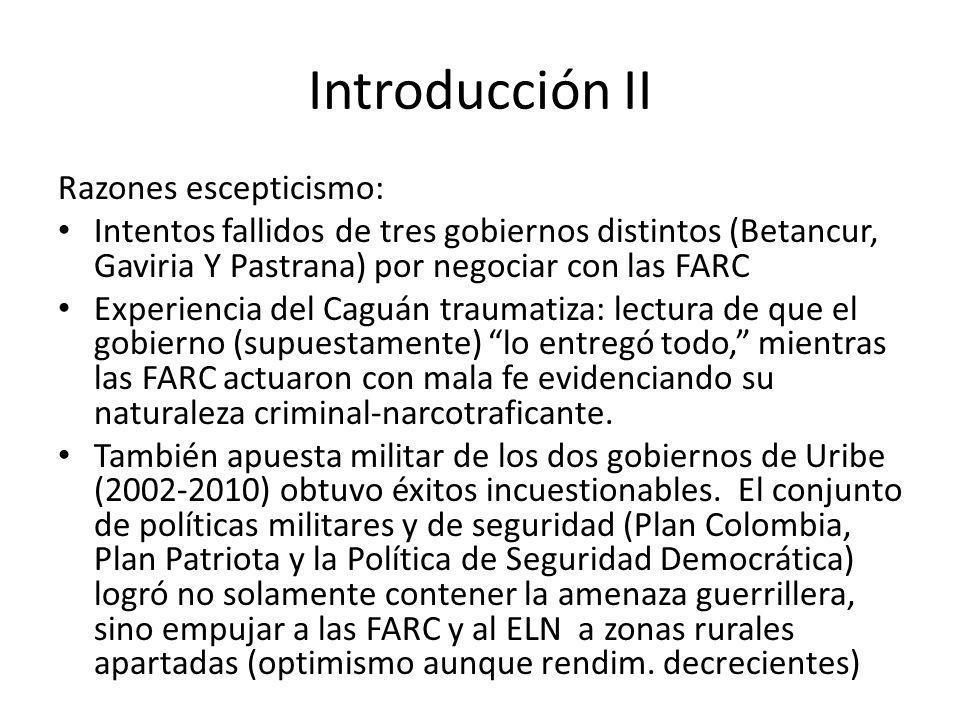 Introducción II Razones escepticismo: