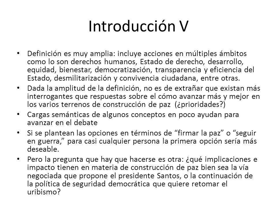 Introducción V