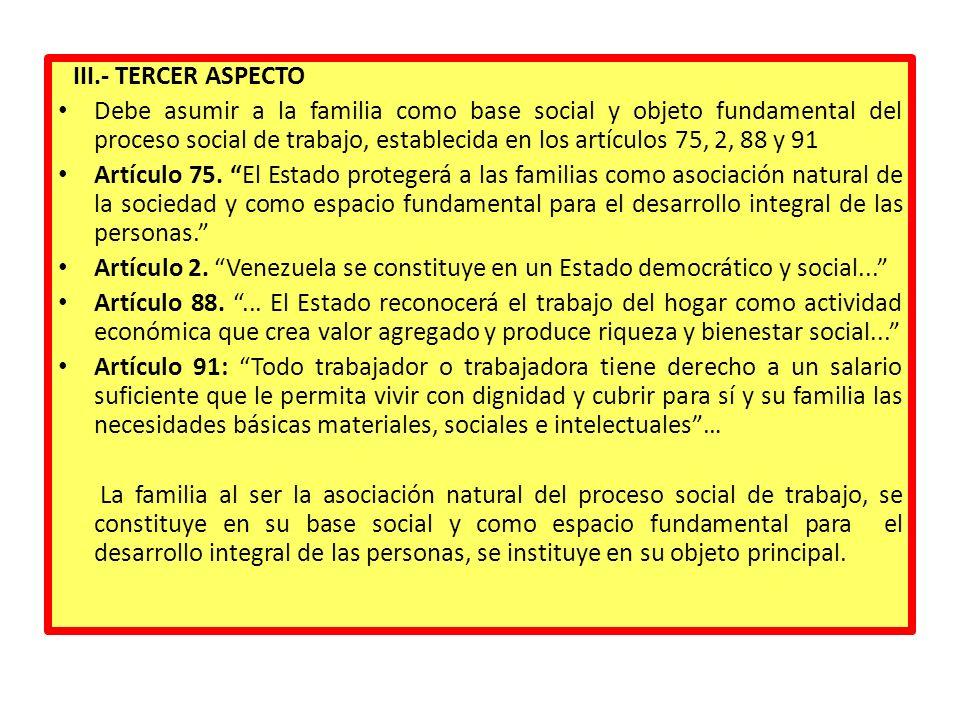 III.- TERCER ASPECTO