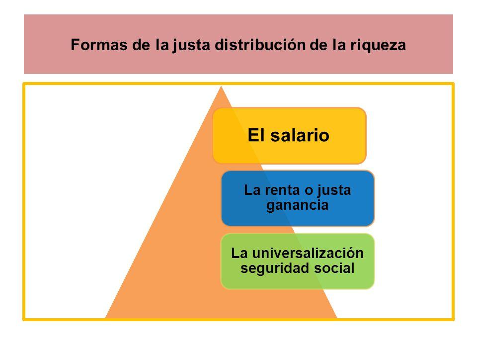 Formas de la justa distribución de la riqueza