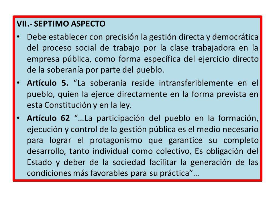 VII.- SEPTIMO ASPECTO