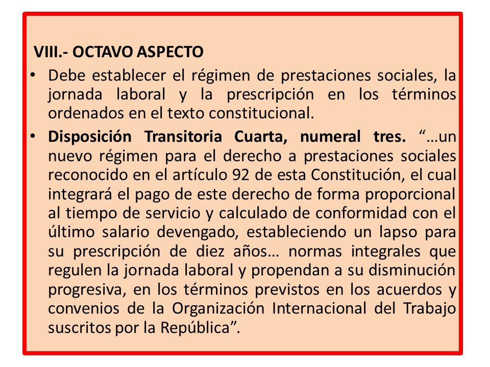 VIII.- OCTAVO ASPECTO