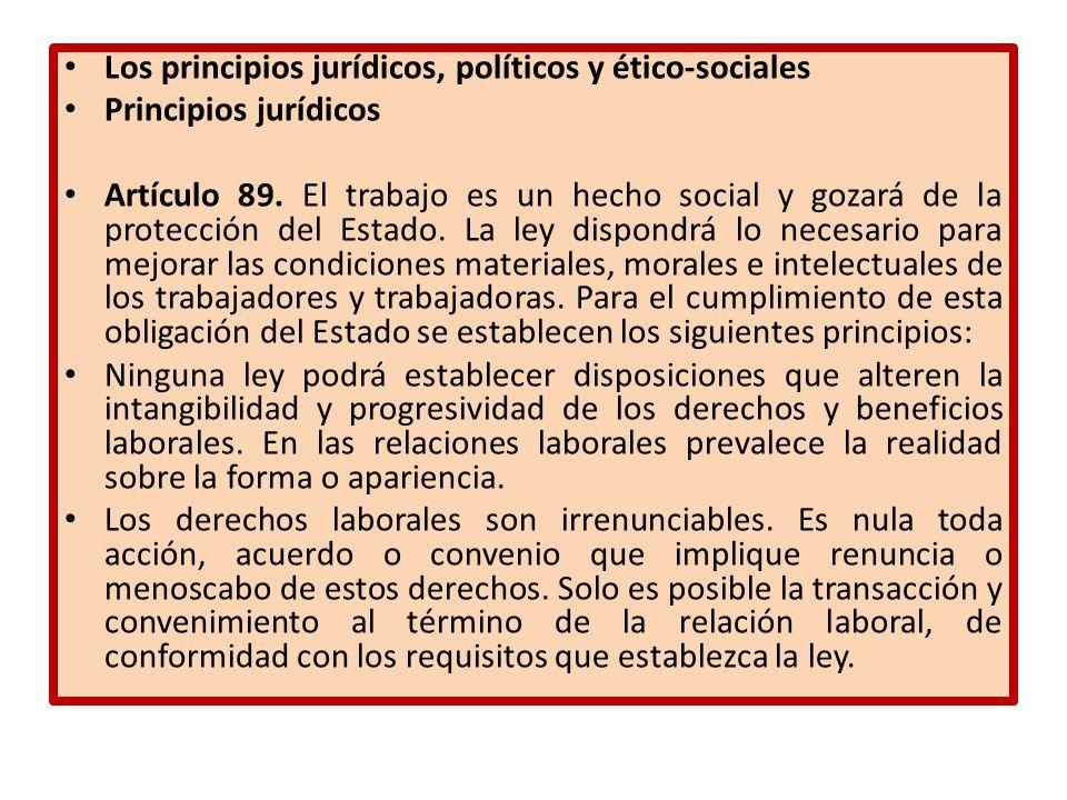 Los principios jurídicos, políticos y ético-sociales