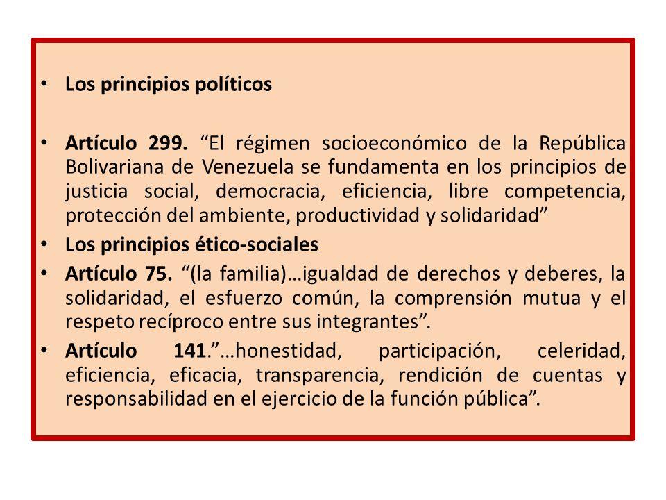 Los principios políticos