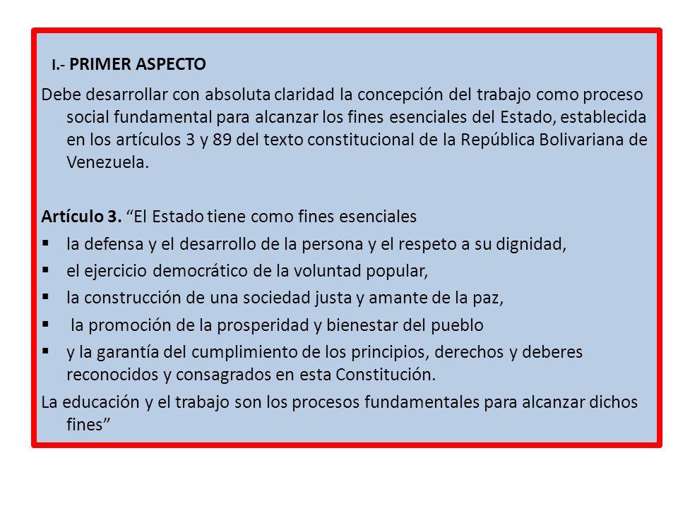 I.- PRIMER ASPECTO