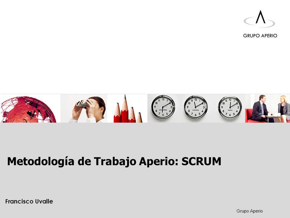 Metodología de Trabajo Aperio: SCRUM Aperio Inducción