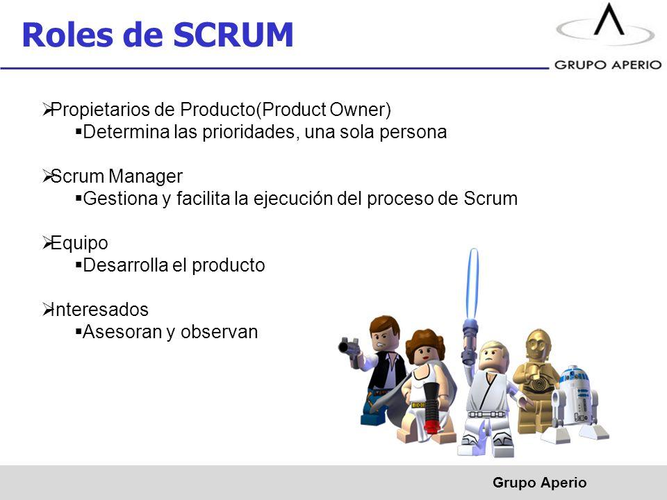 Roles de SCRUM Propietarios de Producto(Product Owner)