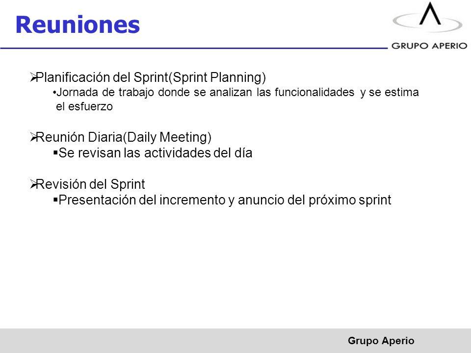 Reuniones Planificación del Sprint(Sprint Planning)