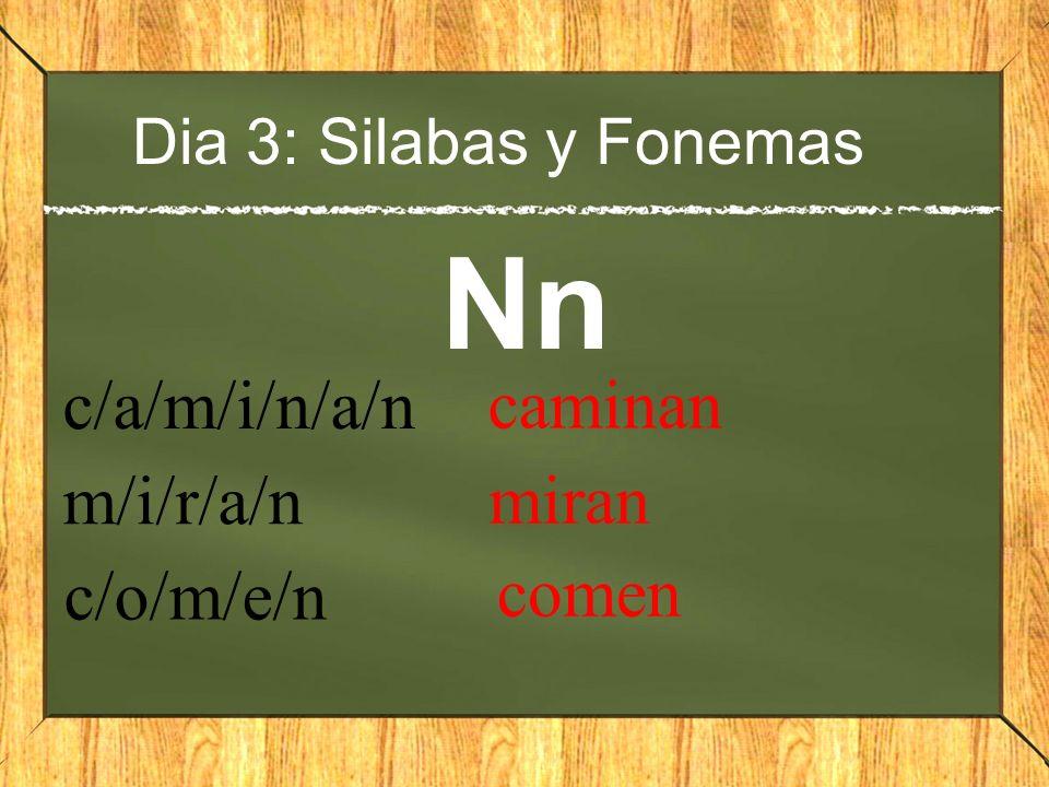 Nn c/a/m/i/n/a/n caminan m/i/r/a/n miran c/o/m/e/n comen