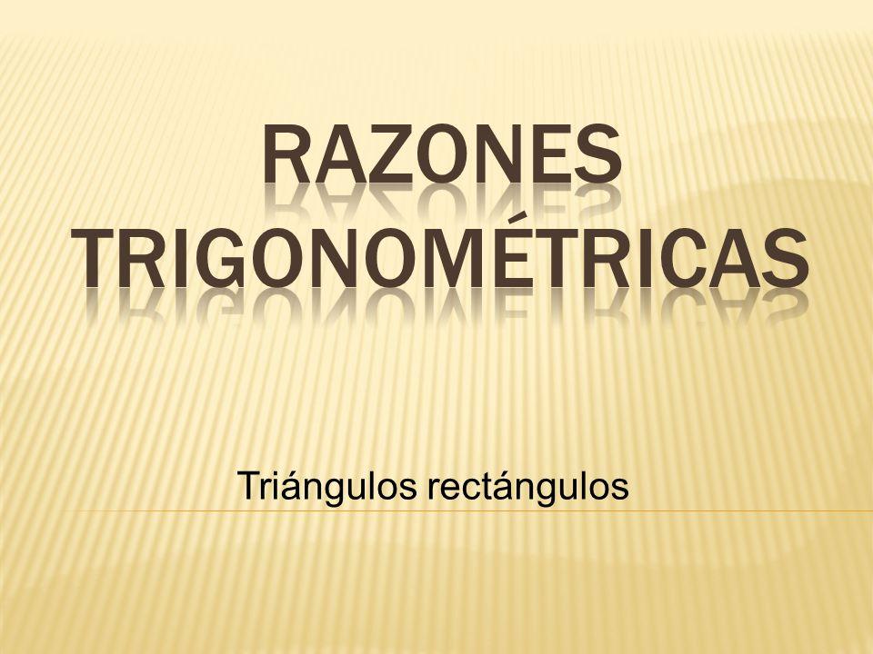 Razones trigonométricas