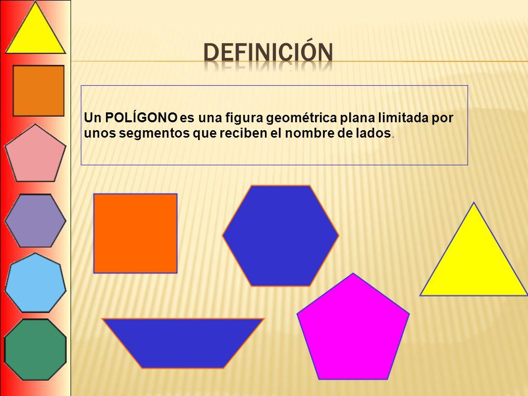 definición Un POLÍGONO es una figura geométrica plana limitada por