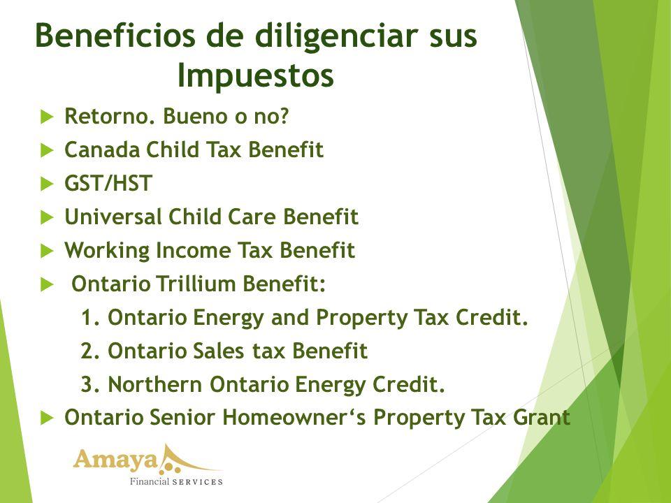Beneficios de diligenciar sus Impuestos