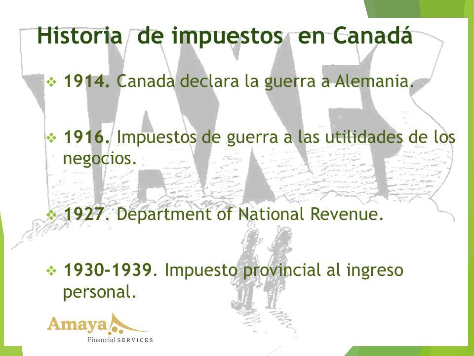 Historia de impuestos en Canadá