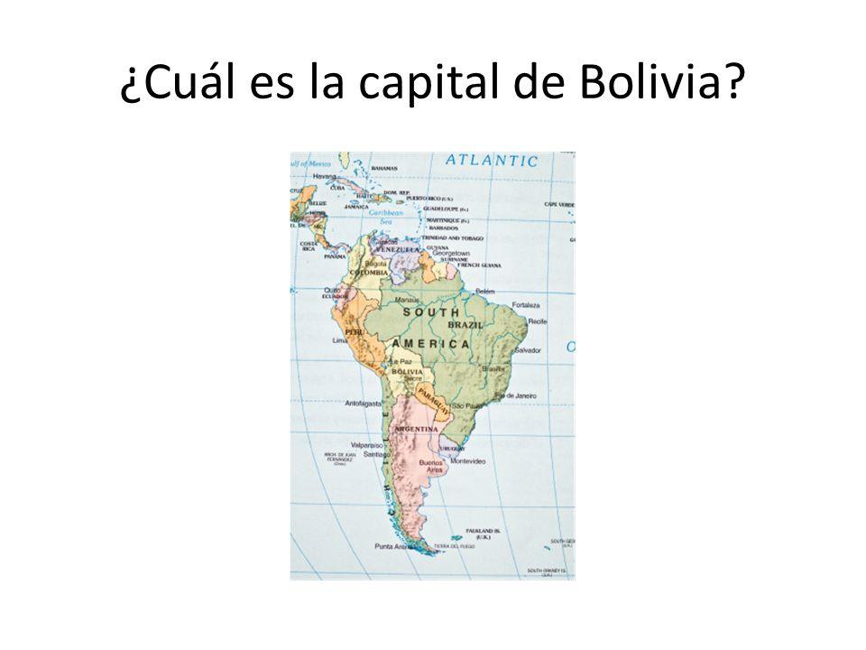 ¿Cuál es la capital de Bolivia