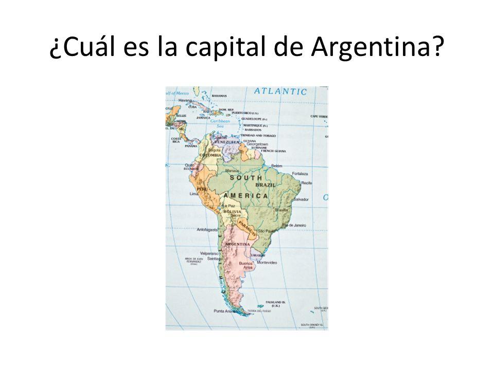 ¿Cuál es la capital de Argentina