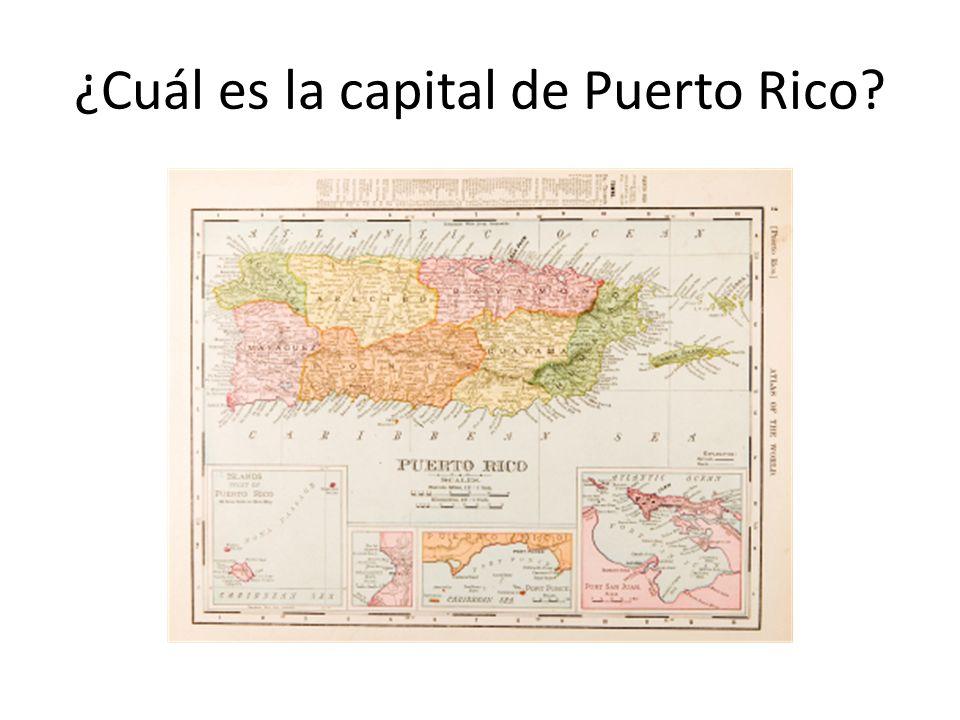 ¿Cuál es la capital de Puerto Rico