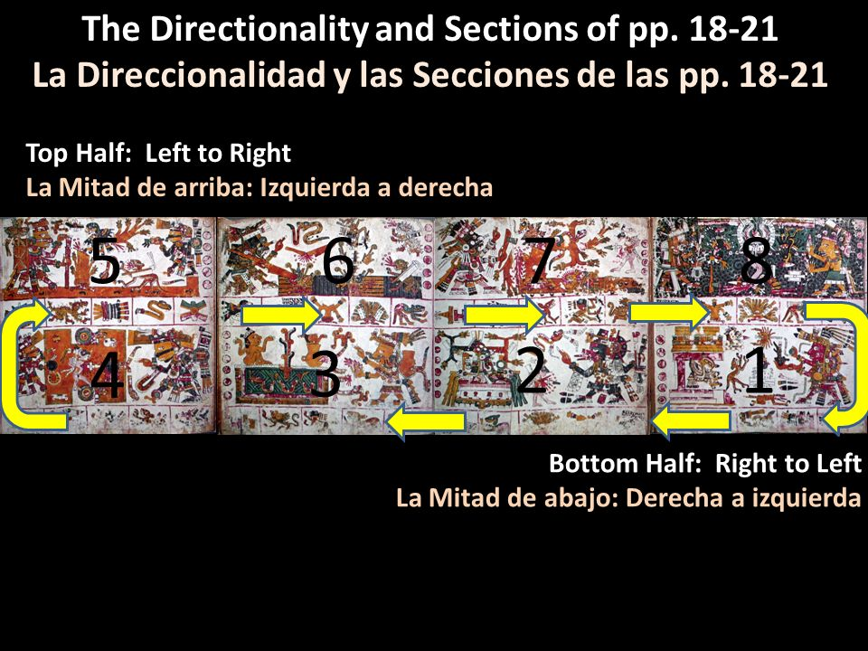 5 6 7 8 4 3 2 1 The Directionality and Sections of pp. 18-21