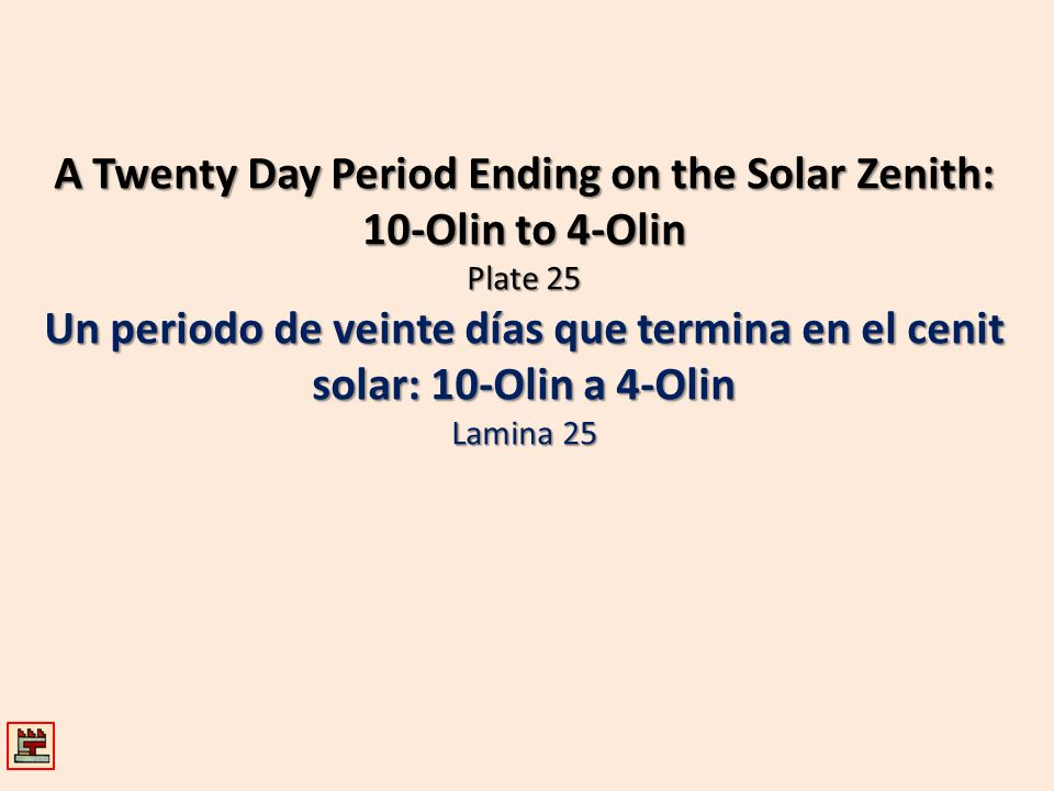 A Twenty Day Period Ending on the Solar Zenith: