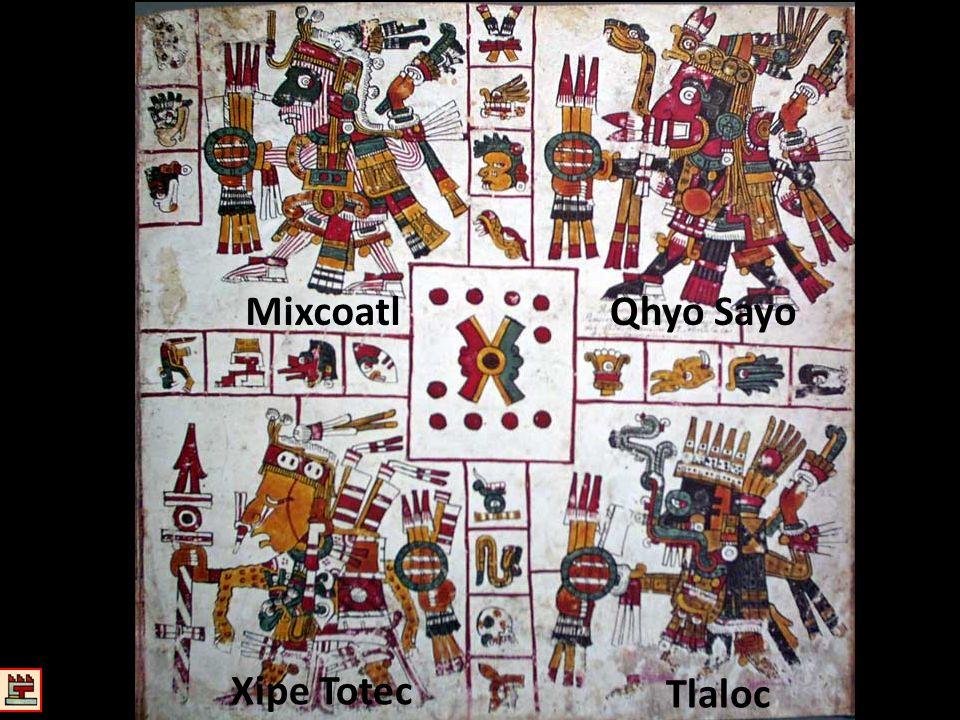 Mixcoatl Qhyo Sayo Xipe Totec Tlaloc