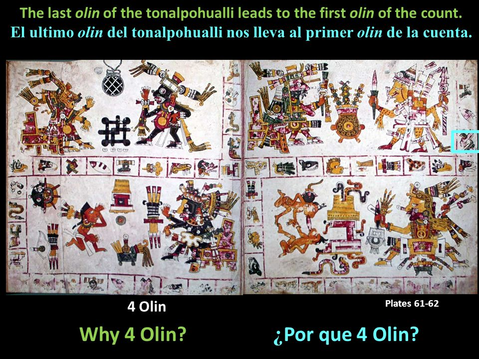 The last olin of the tonalpohualli leads to the first olin of the count.