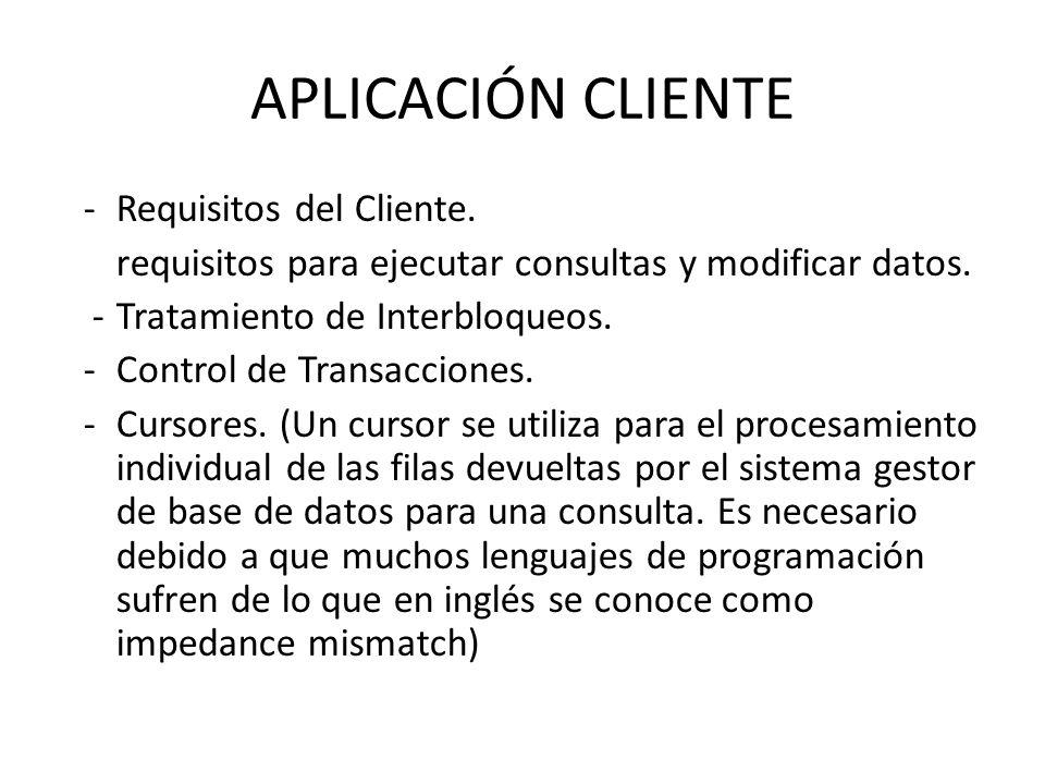 APLICACIÓN CLIENTE - Requisitos del Cliente.
