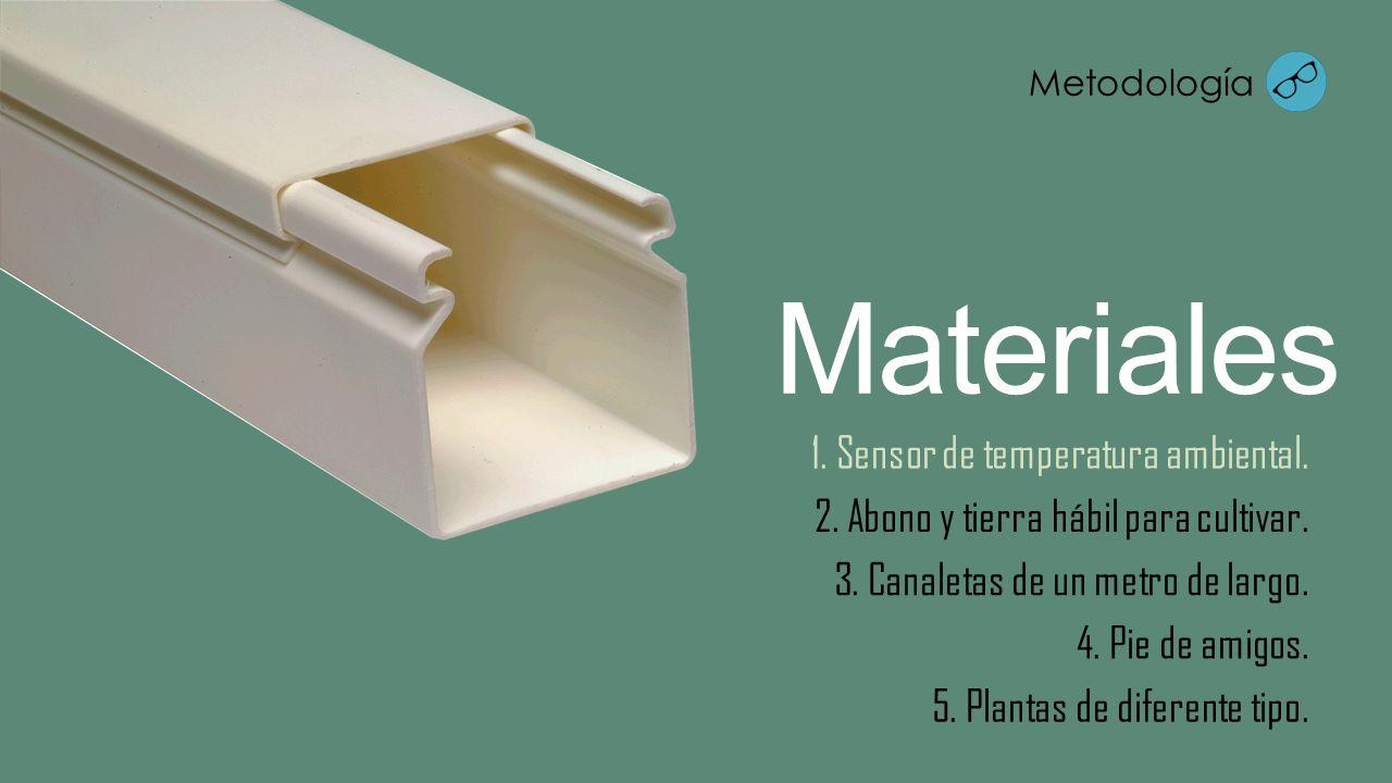 Materiales 1. Sensor de temperatura ambiental.