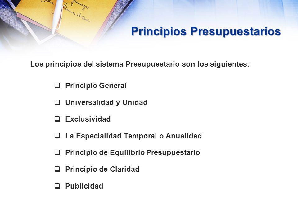 Principios Presupuestarios