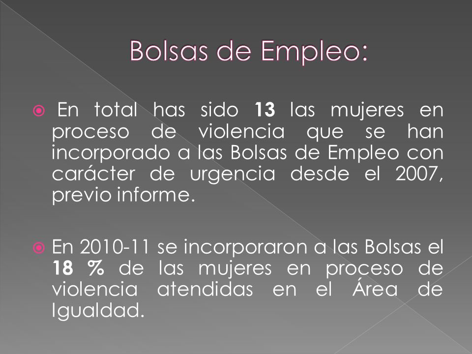 Bolsas de Empleo: