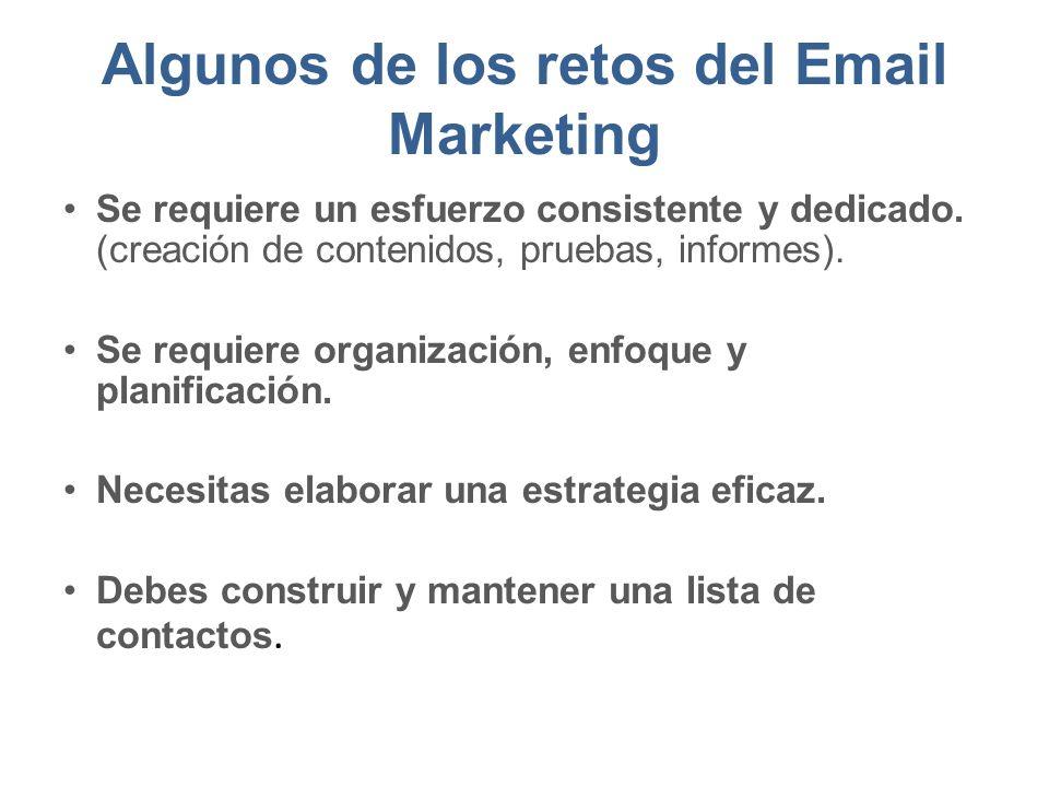 Algunos de los retos del Email Marketing