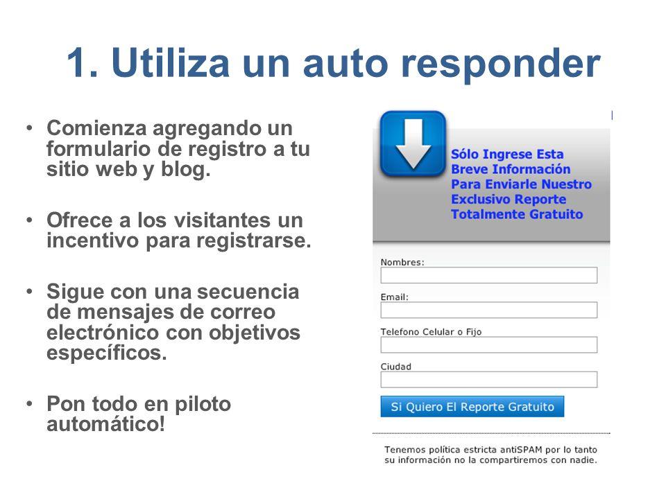 1. Utiliza un auto responder