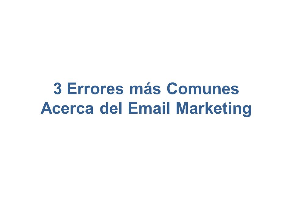 Acerca del Email Marketing