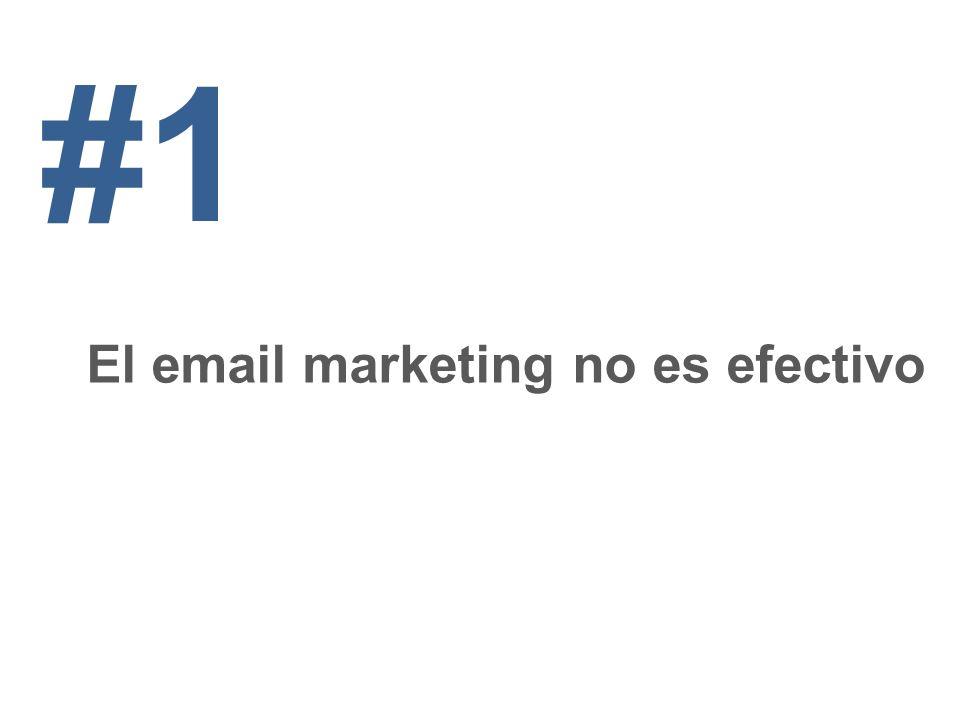 #1 El email marketing no es efectivo