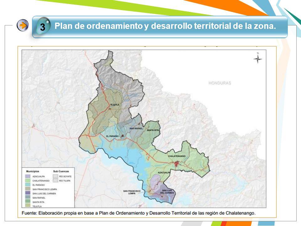 Plan de ordenamiento y desarrollo territorial de la zona.